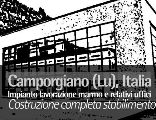 Camporgiano (LU) Italy, Impianto lavorazione marmo e relativi uffici